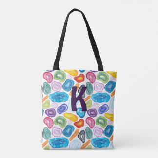 Tote Bag Agate, quartz, bilatéral et tailles -