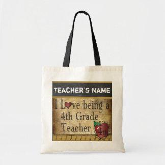 Tote Bag Aimez être un 4ème nom du professeur |