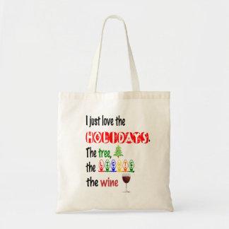 Tote Bag Aimez les vacances, l'arbre, les lumières et le