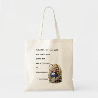 Tote Bag Alice dans la citation d'aventure du pays des