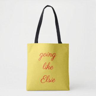 Tote Bag Aller comme le logo fourre-tout d'Elsie