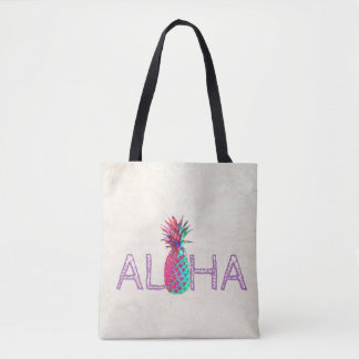 Tote Bag Aloha ananas hawaïen adorable