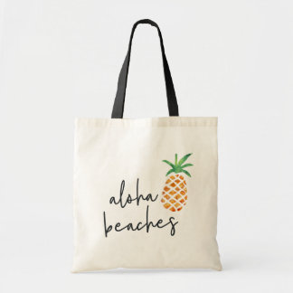 Tote Bag Aloha ananas tropical de plages