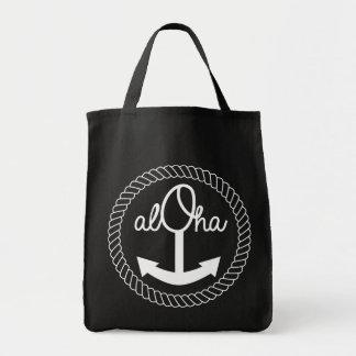 Tote Bag Aloha cercle Fourre-tout de corde d'ancre