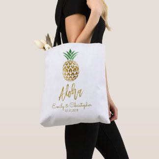 Tote Bag Aloha faveur hawaïenne tropicale de mariage
