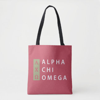 Tote Bag Alpha logo empilé par | d'Omega de Chi