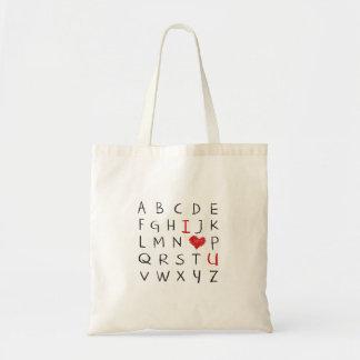 Tote Bag Alphabet d'amour