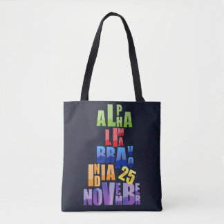 Tote Bag Alphabet phonétique d'Albin 25
