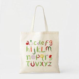 Tote Bag Alphabet végétal