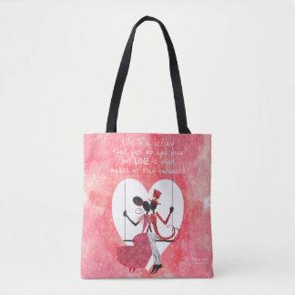 Tote Bag Amants de silhouette sur une bascule