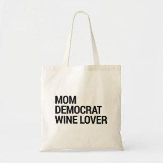 Tote Bag Amateur de vin Fourre-tout de Démocrate de maman