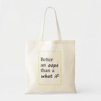 Tote Bag améliorez oop que ce qui si