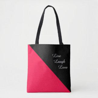 Tote Bag Américain rose et noir