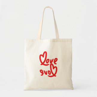 Tote Bag amour et amour handwritting