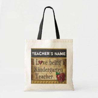 Tote Bag Amour étant un nom de l'institutrice gardienne |