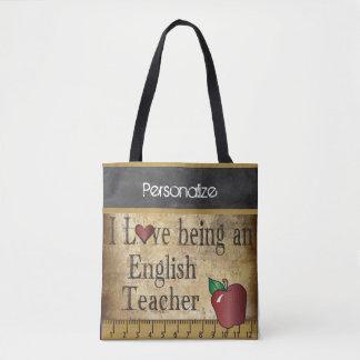 Tote Bag Amour étant un nom du professeur d'Anglais |