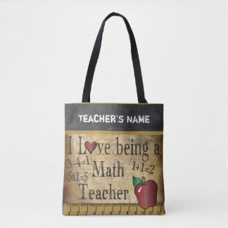 Tote Bag Amour étant un nom du professeur de maths |