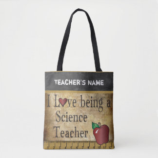Tote Bag Amour étant un nom du professeur de Sciences |