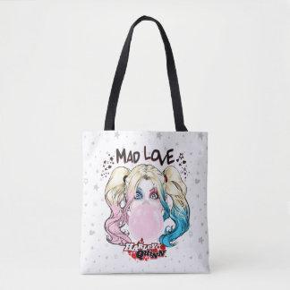 Tote Bag Amour fol Harley Quinn de Batman | mâchant le