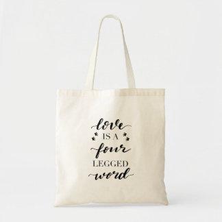 Tote Bag Amoureux des chiens Fourre-tout - l'amour est un