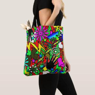 Tote Bag Amusement coloré Fourre-tout comique