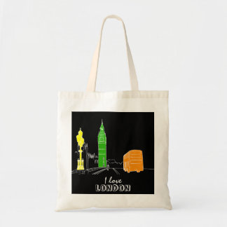 Tote Bag Amusement coloré vibrant moderne de cool de noir
