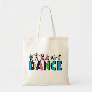 Tote Bag Amusement et danse rayée colorée de danseurs