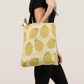 Tote Bag Amusement jaune d'aquarelle de fruit d'été de