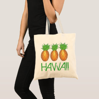 Tote Bag Ananas tropical Honolulu d'île hawaïenne d'Hawaï
