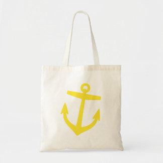 Tote Bag Ancre nautique de très bon goût mignonne jaune
