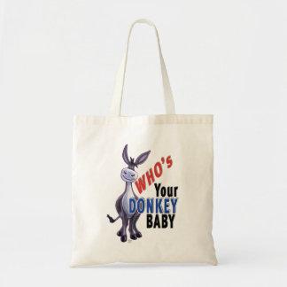 Tote Bag Âne drôle, qui est votre bébé d'âne
