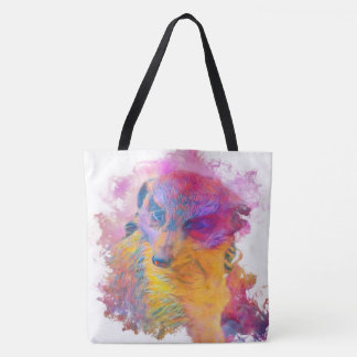 Tote Bag Animal Painterly - Meerkat