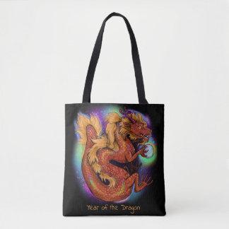 Tote Bag Année chinoise de zodiaque du dragon