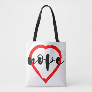 Tote Bag Anti coeur de Nope de Saint-Valentin