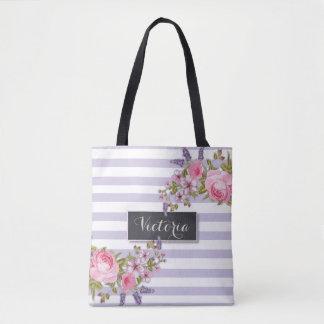 Tote Bag Aquarelle Fourre-tout personnalisé floral de