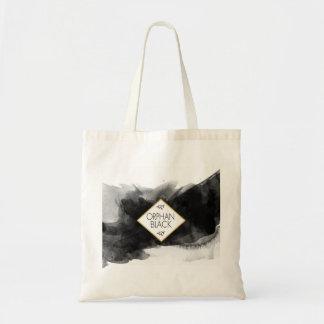 Tote Bag Aquarelle noire noire orpheline