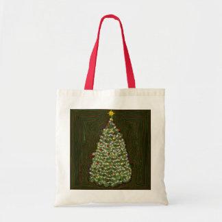 Tote Bag Arbre de Noël de scintillement