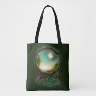 Tote Bag Arbre enchanté de lune tout plus de - imprimez le