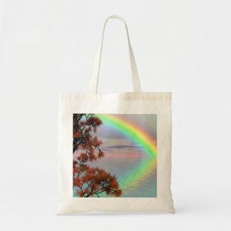 Tote Bag Arc-en-ciel coloré de double d'automne