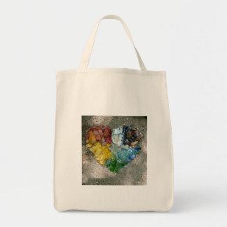 Tote Bag Arc-en-ciel fourre-tout de coeur de nature
