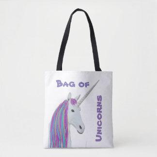 Tote Bag Arc-en-ciel fourre-tout de licorne