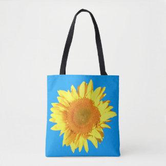 Tote Bag Arrière - plan jaune de ciel bleu de tournesol des