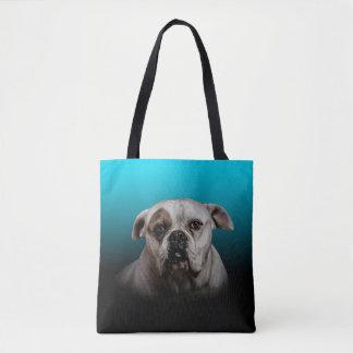 Tote Bag Arrière - plan mignon de gradient de noir bleu du