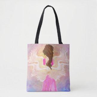 Tote Bag Art d'ange de The Sun de visage