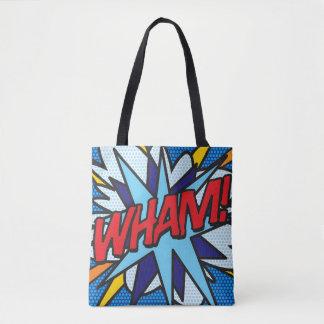 Tote Bag Art de bruit de bande dessinée VLAN ! COUP !