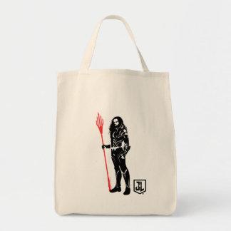 Tote Bag Art de bruit Noir de pose de la ligue de justice |