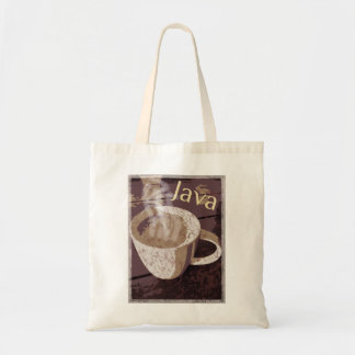 Tote Bag Art de cru de Java de café