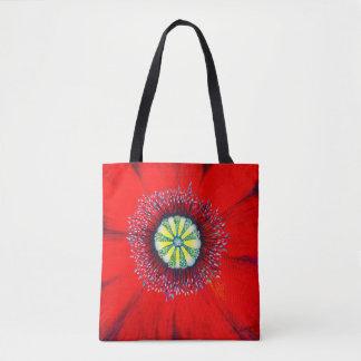 Tote Bag Art de floraison - Poopy optimiste, par