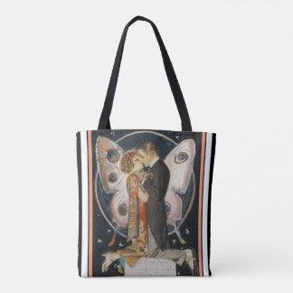 Tote Bag Art déco embrassant des couples Fourre-tout