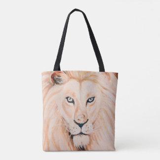 Tote Bag Art fort d'huile de portrait de lion
